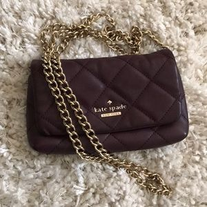 KATE SPADE mulled wine leather crossbody bag
